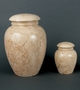 Grecian Travertine Marble Cremation Urn