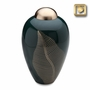 Emerald Leaf Brass Cremation Urn