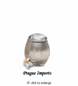 Silver Lead Crystal Bloom Small Cremation Urn