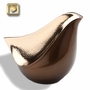 Lovebird Bronze Finish Brass Cremation Urn