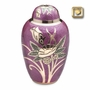 Lilac Rose Enameled Brass Cremation Urn