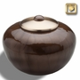 Round Simplicity Bronze Finish Cremation Urn