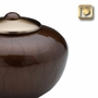 Round Simplicity Bronze Finish Brass Cremation Urn