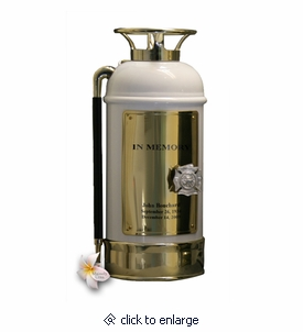 White Fire Extinguisher Firefighter Cremation Urn