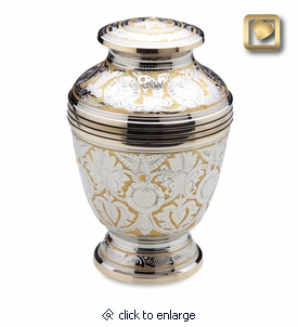 Ornate Floral Cremation Urn