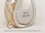 Brushed Brass Tear Drop Keepsake Cremation Urn