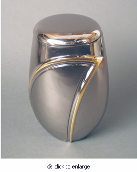 Wave II Platinum on Bronze Cremation Urn