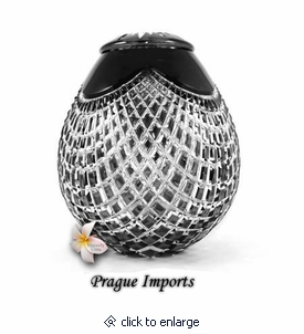 Black Caesar Lead Crystal Cremation Urn