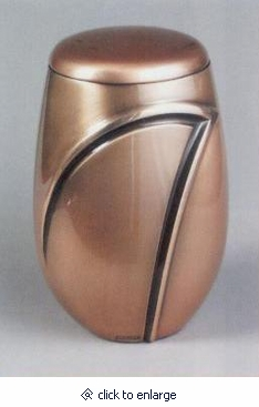 Wave I Bronze with Gold Cremation Urn