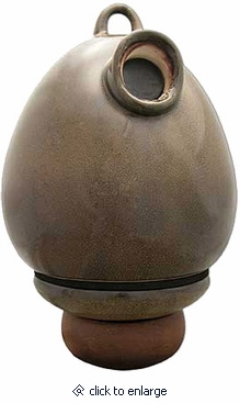 Sandy Granite Egg Scattering Ceramic Birdhouse Cremation Urn