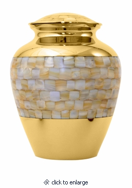 Mother of Pearl Elite Medium Pet Cremation Urn