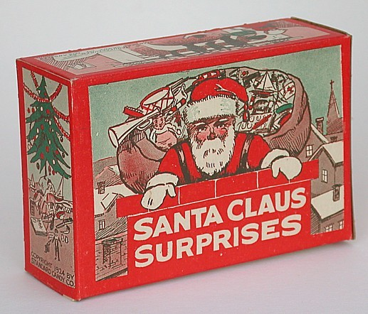 Santa claus candy box
