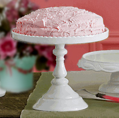 Antique White Victorian Style Footed Round Cake Stand in a Gift Box