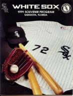 1991 CHICAGO WHITE SOX Spring Training Game Program