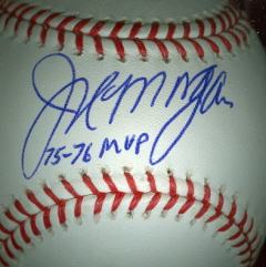 JOE MORGAN Autographed Baseball (MVP)
