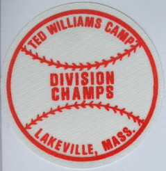 TED WILLIAMS Baseball Camp Champs Patch