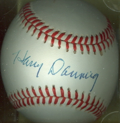 HARRY DANNING Autographed Baseball