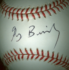 GREG BRILEY Autographed Baseball