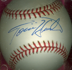 TORII HUNTER Autographed Baseball