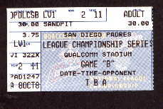 1998 National League Championship Game 4 Ticket Stub