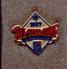 1989 All-Star Game Press Pin (California)