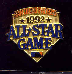1992 All-Star Game Press Pin (San Diego)
