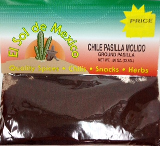Image result for pasilla molido chile