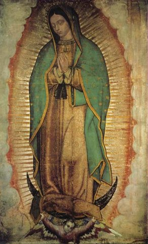 Our Lady Of Guadalupe Poster Virgen De Guadalupe Poster Medium