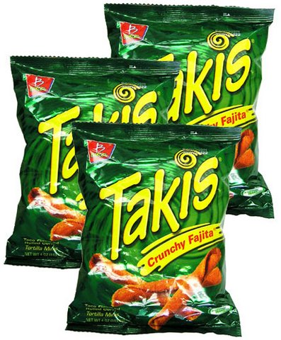 Takis Crunchy Fajita Taco Flavored Rolled Corn Tortilla Minis By