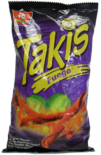 Takis Fuego Hot Chili Pepper Lime Flavored Rolled Tortilla Minis