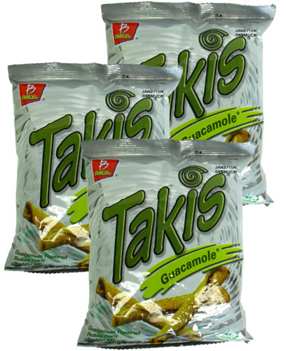 takis guacamole flavored rolled tortilla minis 4 oz pack of 6