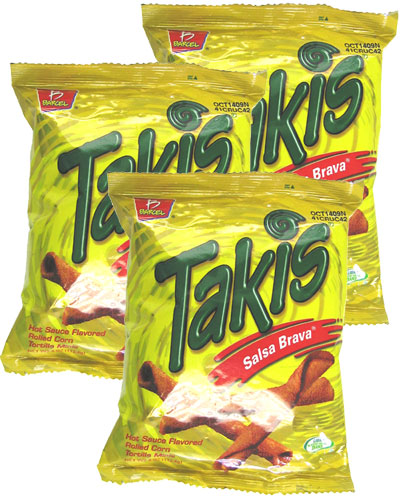 Takis Salsa Brava Hot Sauce Flavored Rolled Corn Tortilla By Barcel