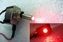 CHROME Toggle Switch with LED RED - 12v Car Neon / Leds / NOS