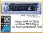 CAR STEREO CD/MP3 PLAYER 200watt HMP-4775DR