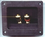 "3-3/4""L x 3-1/8""D Rectangular Speaker Terminals with Gold Connectors"