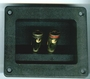 "3-3/4""L x 3-1/8""D Rectangular Speaker Terminals Spring Loaded Gold Posts"