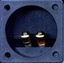 "3 1/4"" Square Speaker Terminal Gold Connectors"
