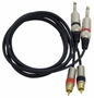 Pyle Dual 5ft 6.35 Jack to RCA Male Cable PPRCJ05