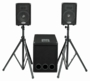 Gemini XTR-400SYS Bi-Amp 2 Way DJ Speaker System with Amplifier