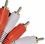 RCA 12' Ft Stereo Cable Clear gold plated