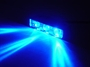 BLUE Led Motorcycle Lazer Lights - Chrome