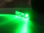 GREEN Led Motorcycle Lazer Lights - Chrome