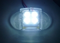 4 Leds Clear Case Led Lighting - Motorcycle & Car Lights (Clear Case Design)