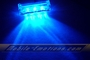3 LED BLUE Motorcycle & Car Lights - Neon Glow from LEDS (Clear Case Design)