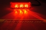 3 LED RED Motorcycle & Car Lights - Neon Glow from LEDS (Clear Case Design)
