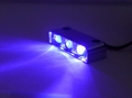 PURPLE (UV) Led Motorcycle Lazer Lights - Chrome