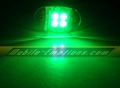 4 LED GREEN Motorcycle & Car Lights - Neon Glow from LEDS (Clear Case Design)