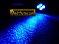 4 LED BLUE Motorcycle & Car Lights - CLUSTER LEDS
