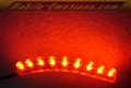 RED LED Flexible Motorcycle / Car Lights with 9 LEDS
