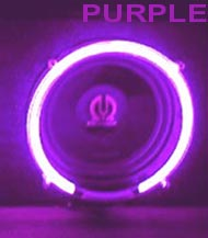 neon itm speaker purple subwoofer car lighting kit inch rings glow set